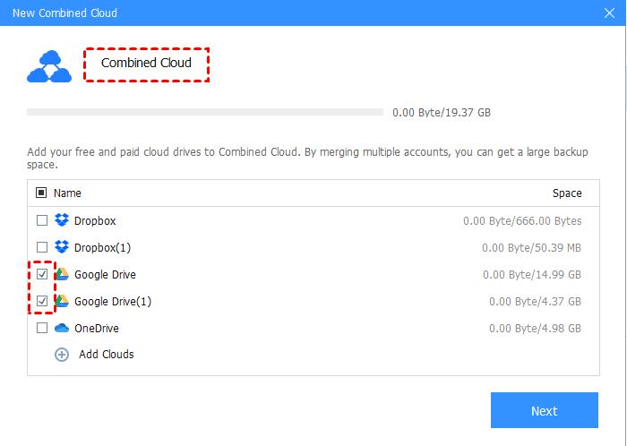 Tick All Google Drive Accounts