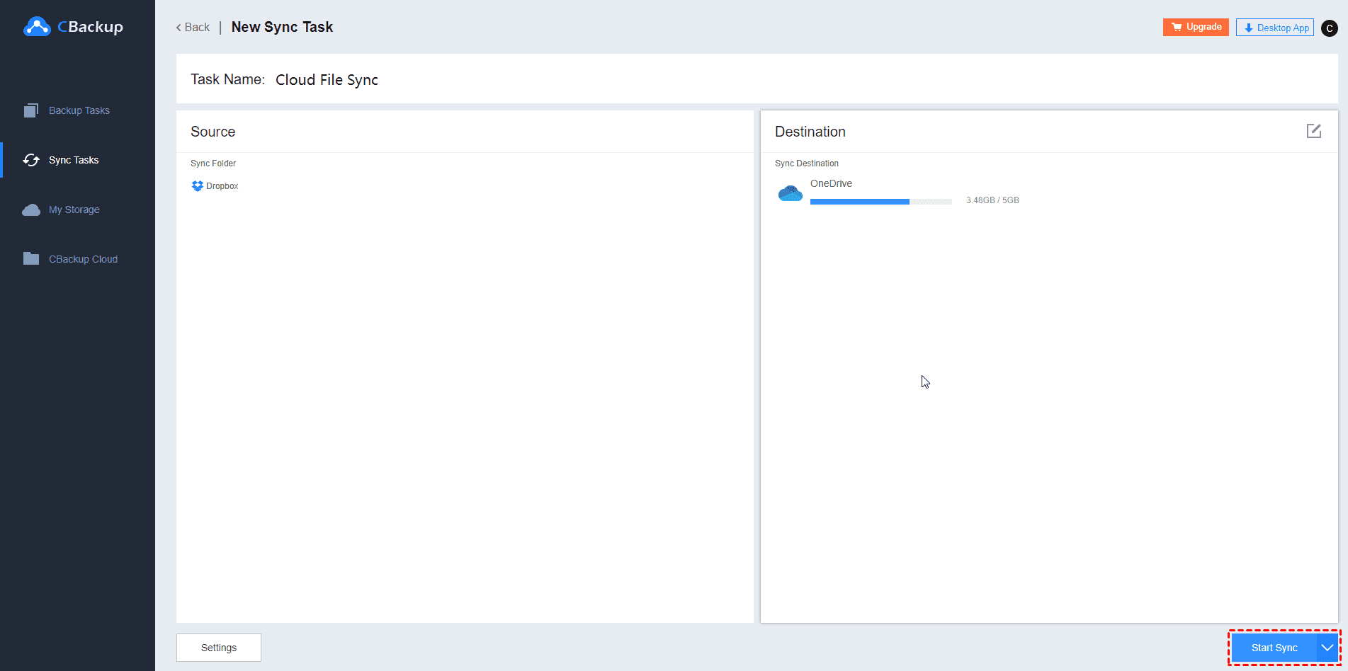 Sync Dropbox To Onedrive