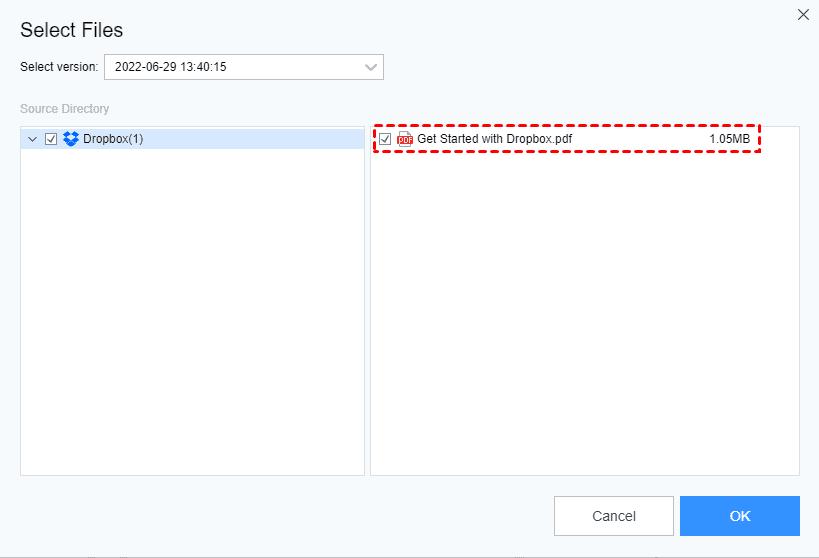 Restore Select Files2