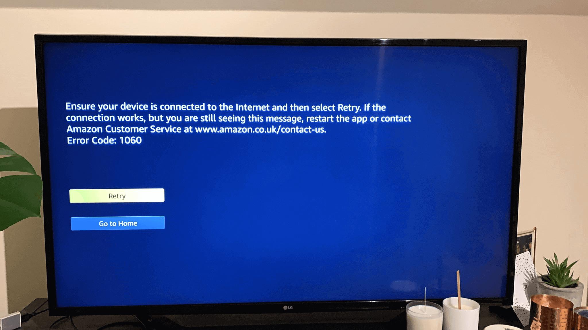 Amazon Error Code 1060