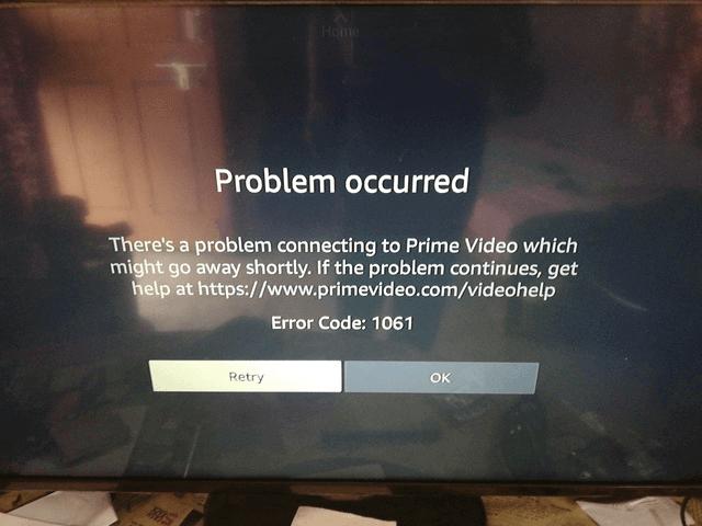 Amazon Error Code 1061