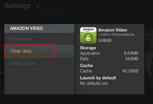 Clear Amazon Video Data On Tv