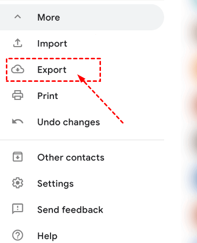 Google Contacts Export