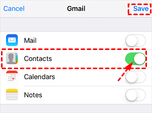iOS Turn On Contacts