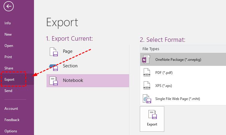 Export Notebook