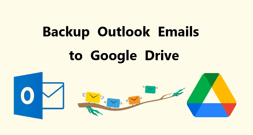Backup Outlook emails to Google Drive