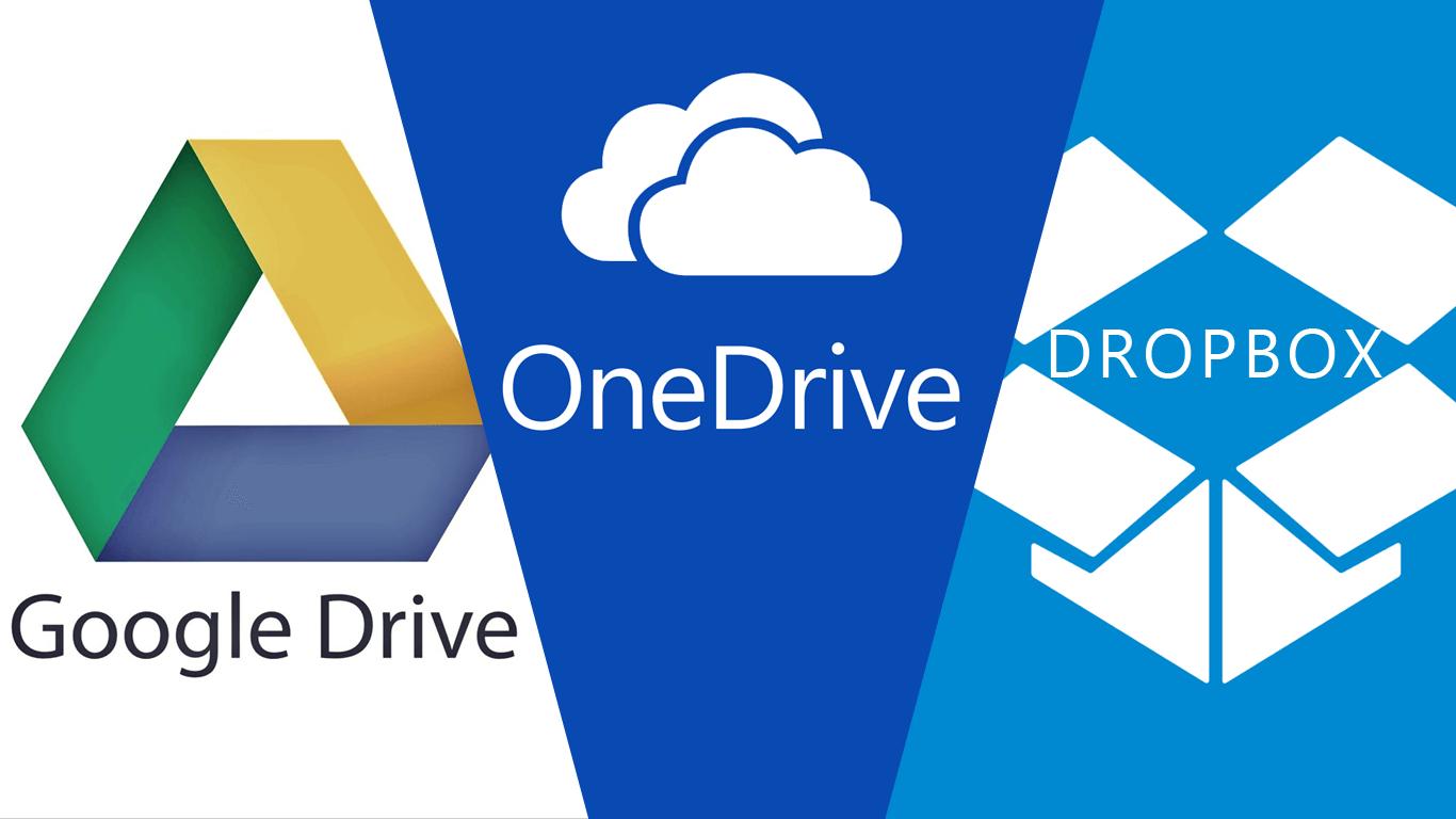 Googledrive Onedrive Dropbox