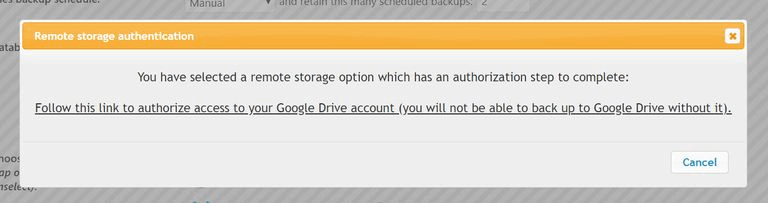 Google Drive Authentication