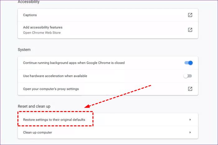 Reset Settings to Original Defaults