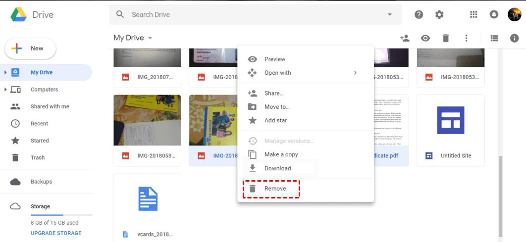 Google Drive Remove