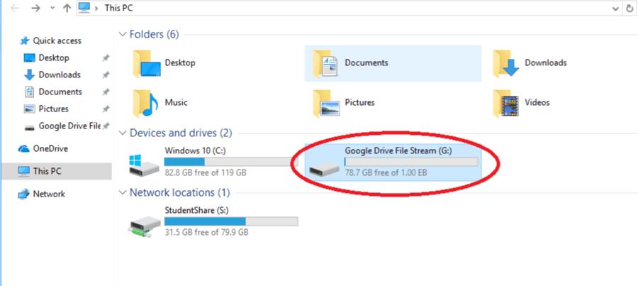 Google Drive File Stream Drive