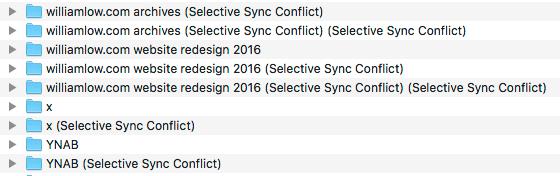 Dropbox Selective Sync Conflict Folder