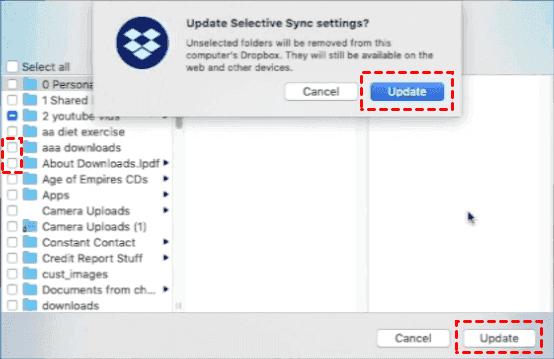 Dropbox Selective Sync Update