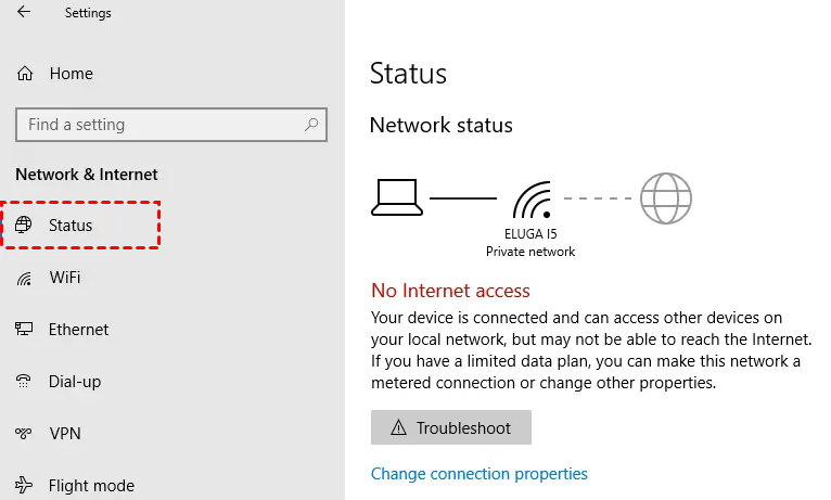 Check Connection Computer