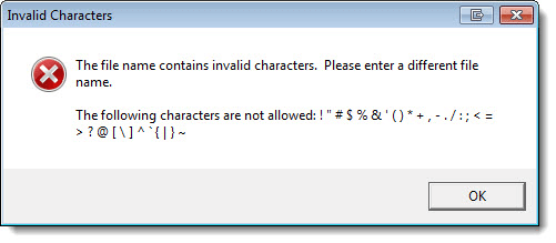 Check File Characters