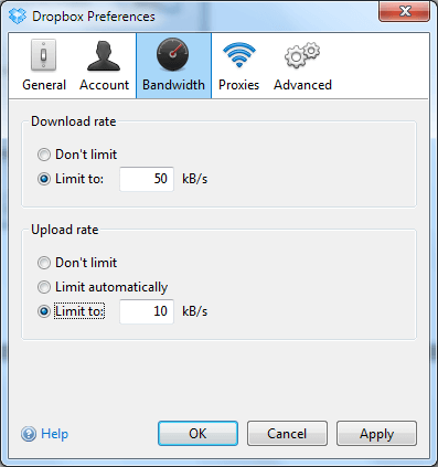 Dropbox Bandwidth
