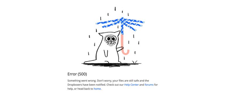 Dropbox Error 500