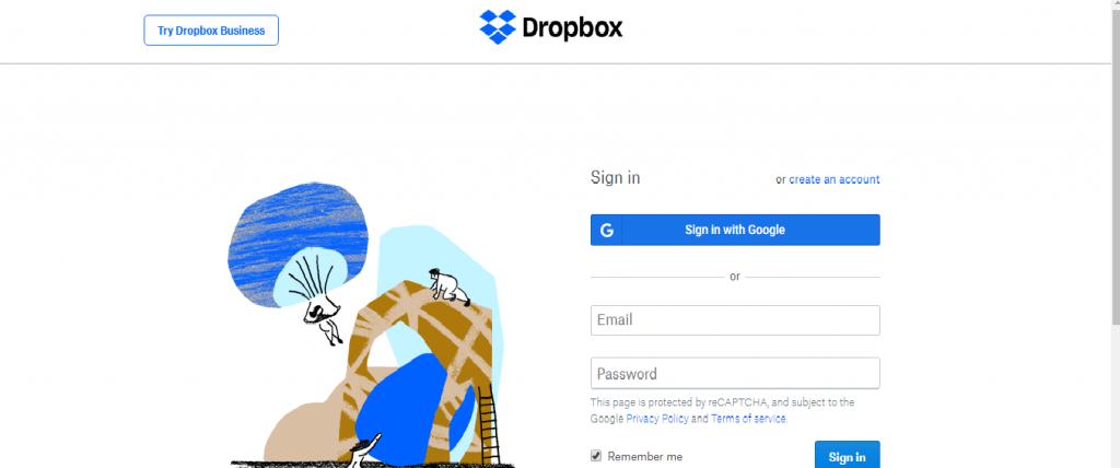 Log In Dropbox
