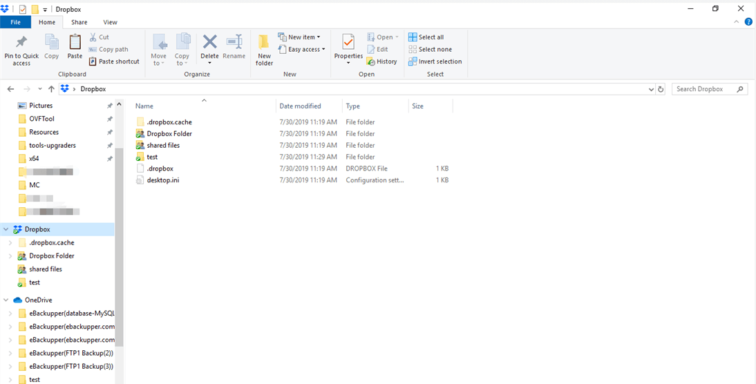 View Dropbox Through File Explorer