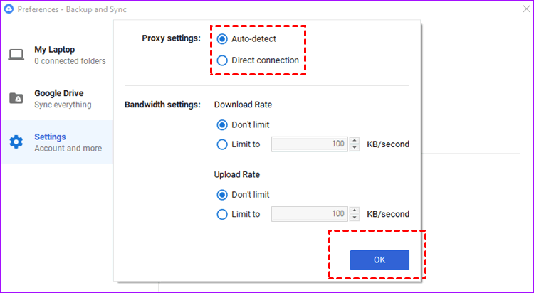 Enable The Direct Connection Option