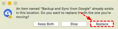 Replace Backup and Sync
