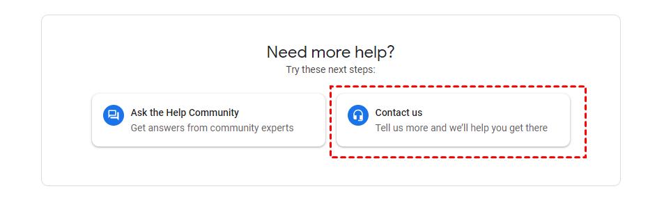 Google Contact Us