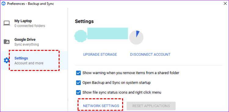 Preferences Settings Network Settings