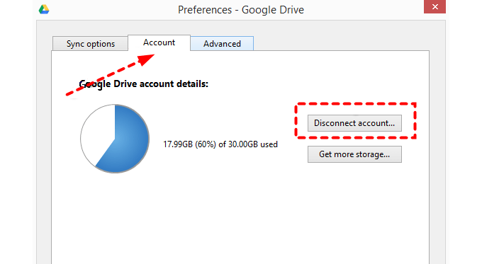 Disconnect Account