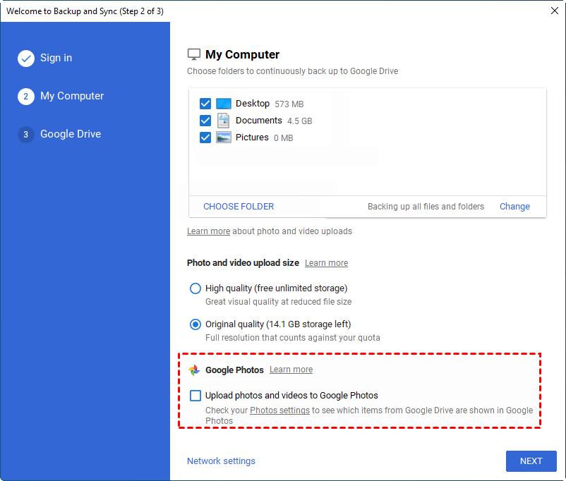 Windows Sync Google Photos