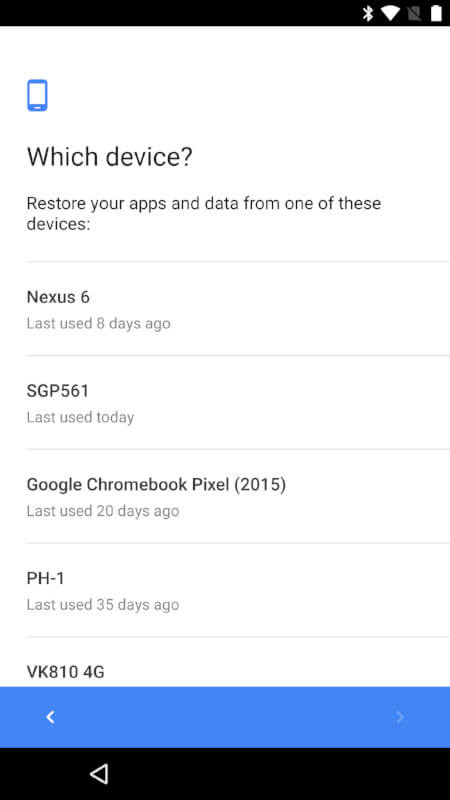 Google Cloud Restore Android