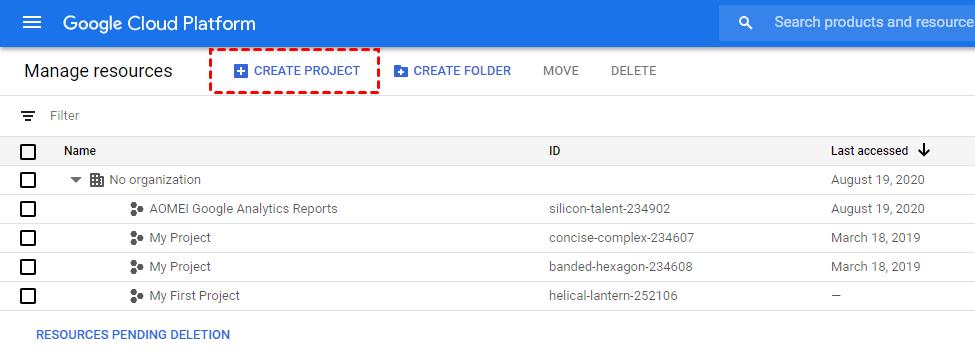 Create Google Credentials 1