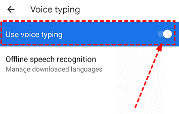 Enable Google Docs Voice Typing on Android