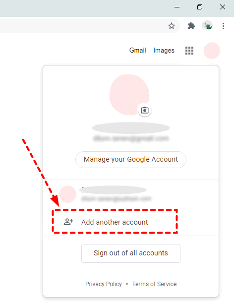 Google Drive Add Another Account