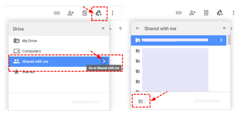 Add Files To Shared With Me