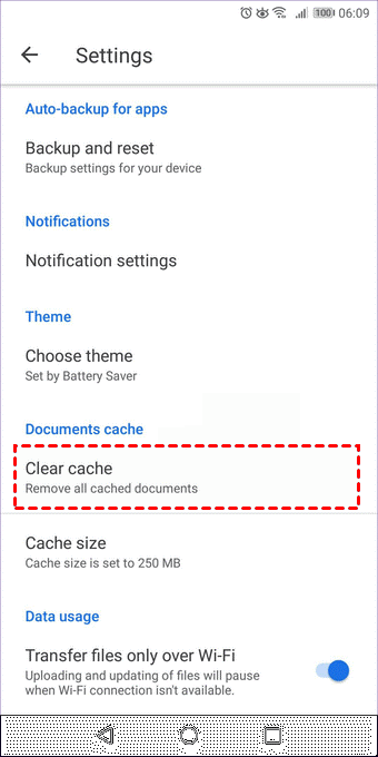 Clear Cache Google Drive