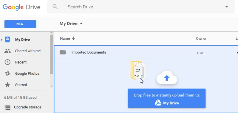 Drag Files To Google Drive