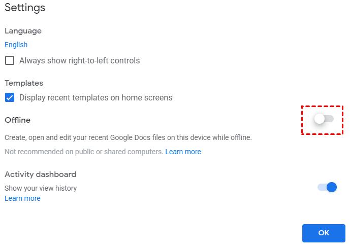 Enable App Offline