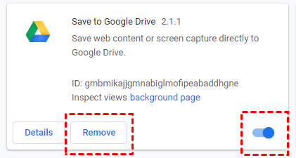 Remove Google Drive Plugin