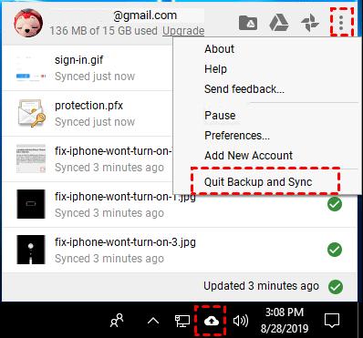 Quit Google Drive