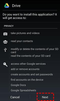 Reinstall Google Drive App