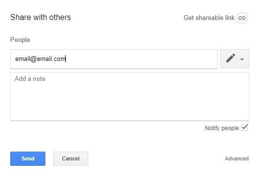 Googledrive Select Send