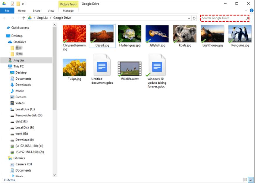 Google Drive Search Files