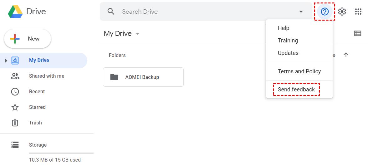 Google Drive Feedback