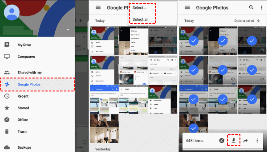 Restore Photos from Google Drive to Android