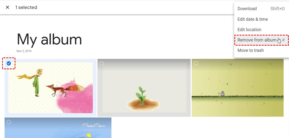 Google Photos Move to Album