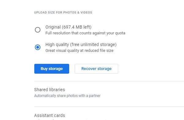 Upload Size