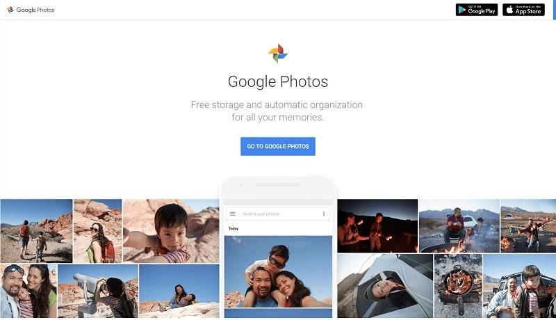 Google Photos Main Page