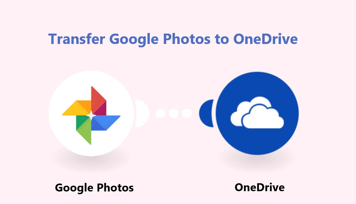 Transfer Google Photos to OneDrive