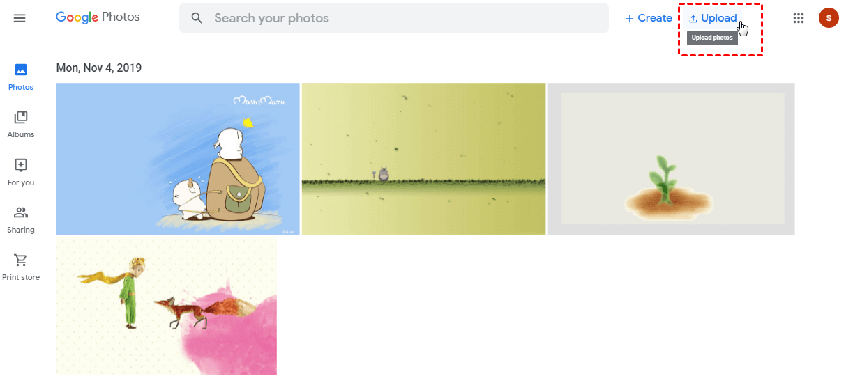 Google Photos Upload