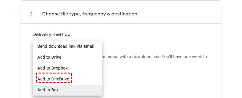 Add to OneDrive